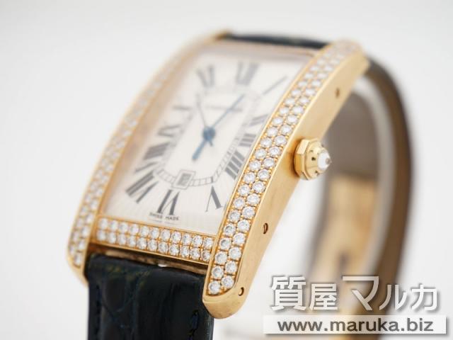 super popular d31fc 0f054 カルティエ/タンクアメリカンLM ダイヤ巻の買取・質 質屋マルカ